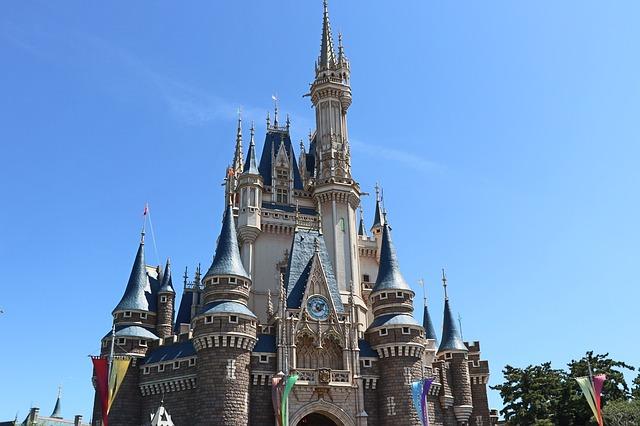 Pohádkový hrad v Disneylandu
